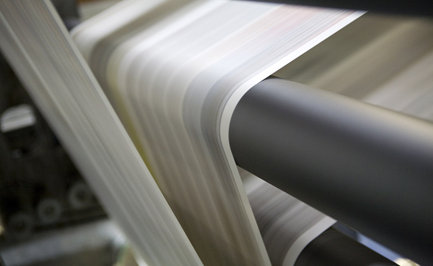 Industrial rubber roller compounds paper