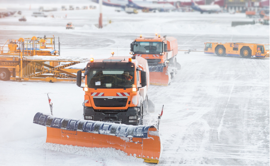 Outdoor Maintenance snowplows