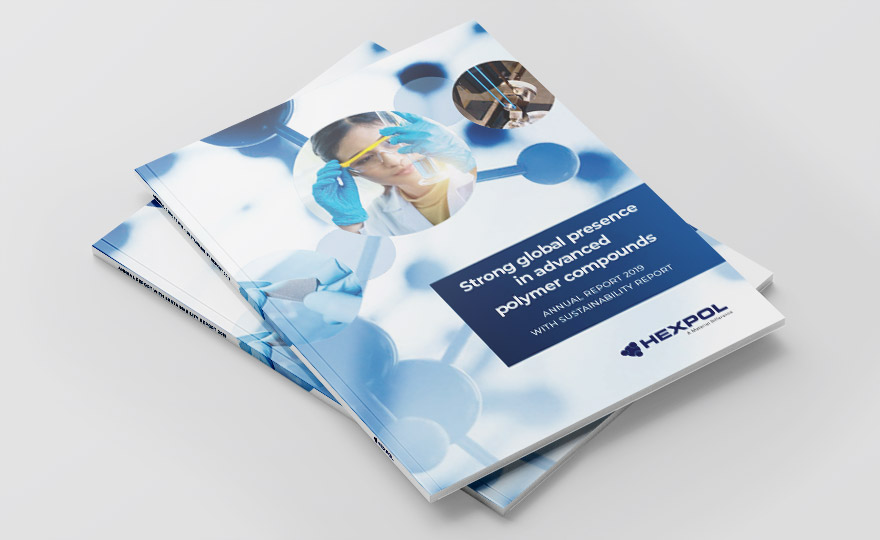 Cover of HEXPOL Annual Report 2019